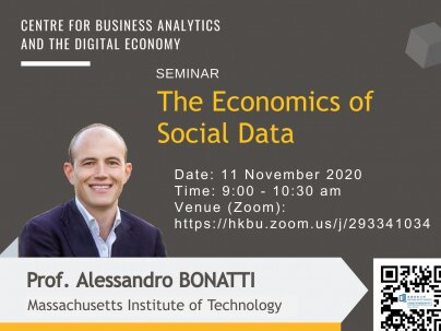 CBADE Seminar: The Economics of Social Data