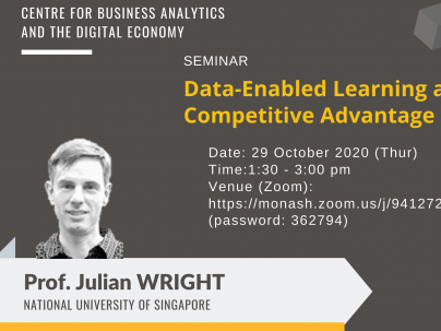 CBADE Seminar: Data-Enabled Learning and Competitive Advantage