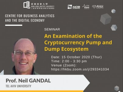 CBADE Seminar: An Examination of the Crytocurrency Pump and Dump Ecosystem