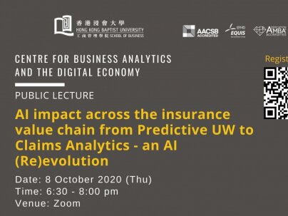 CBADE Public Lecture: AI impact across the insurance value chain from Predictive UW to Claims Analytics - an AI (Re)evolution